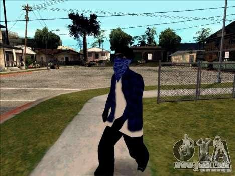 Crips Gang para GTA San Andreas sucesivamente de pantalla
