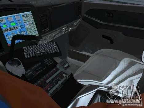 Chevrolet Suburban Los Angeles Police para GTA San Andreas vista hacia atrás