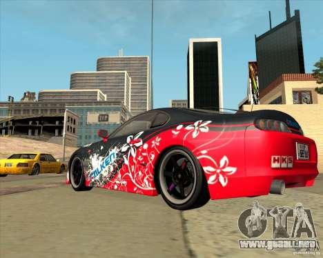 Toyota Supra by Cyborg ProductionS para GTA San Andreas vista posterior izquierda