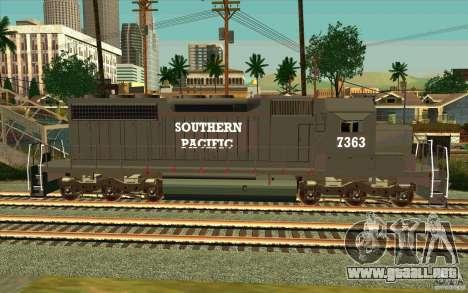 Southern Pacific SD 40 para GTA San Andreas left