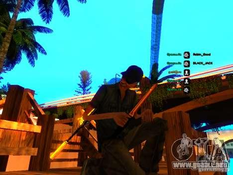 Black and Yellow weapons para GTA San Andreas segunda pantalla