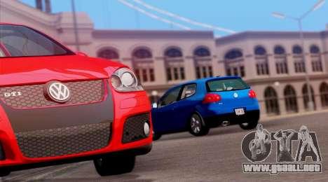 VW Golf V GTI 2006 para la visión correcta GTA San Andreas