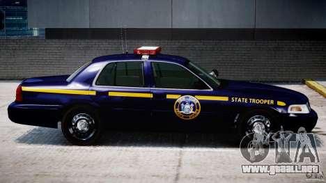 Ford Crown Victoria New York State Patrol [ELS] para GTA 4 vista desde abajo