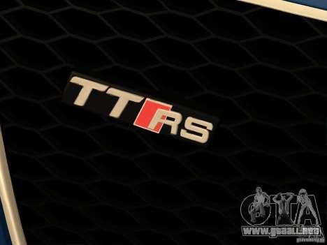 Audi TT RS para vista lateral GTA San Andreas