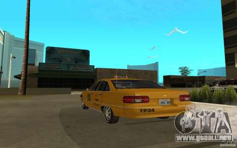 Chevrolet Caprice taxi para GTA San Andreas left