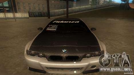 BMW E46 M3 Coupe 2004M para GTA San Andreas left