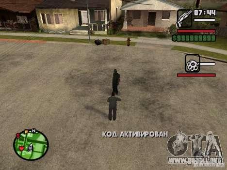 Recarga HP y armaduras segundo jugador v1.0 para GTA San Andreas tercera pantalla