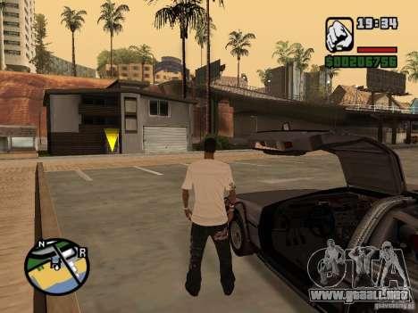 Crysis Delorean BTTF1 para la visión correcta GTA San Andreas