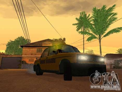 2106 VAZ tuning Taxi para GTA San Andreas vista posterior izquierda