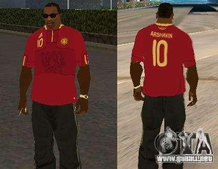 Camiseta Arshavin para GTA San Andreas