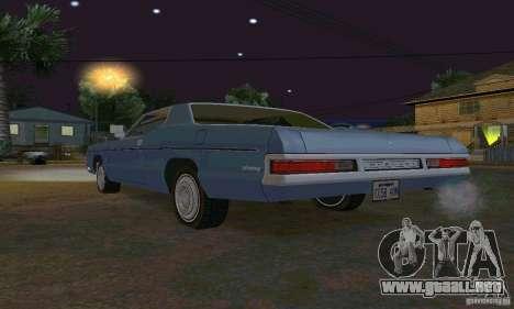 Mercury Monterey 1972 para visión interna GTA San Andreas