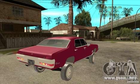 Pontiac LeMans para la visión correcta GTA San Andreas