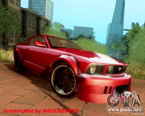 Ford Mustang GT 2005 Tunable para GTA San Andreas vista hacia atrás