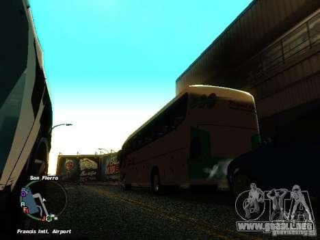 Bus Kramat Djati para GTA San Andreas vista posterior izquierda