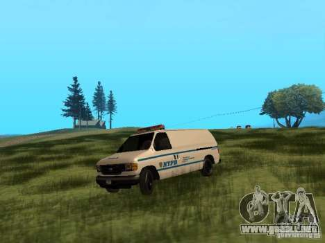 Ford E-150 NYPD Police para GTA San Andreas