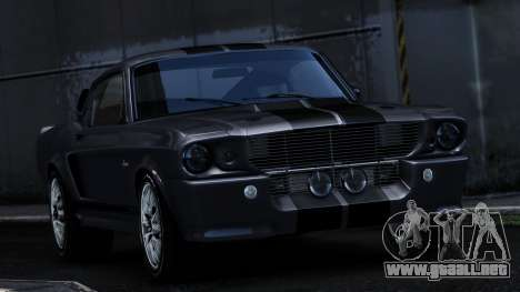 Ford Shelby Mustang GT500 Eleanor para GTA 4 vista hacia atrás