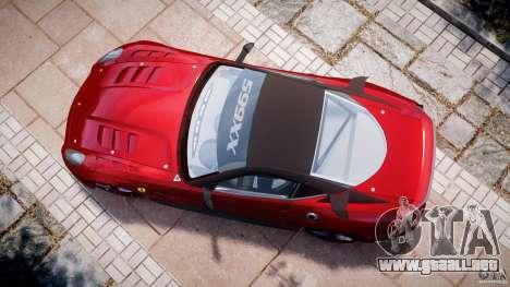 Ferrari 599 XX para GTA 4 visión correcta