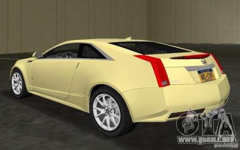 Cadillac CTS-V Coupe para GTA Vice City vista lateral izquierdo