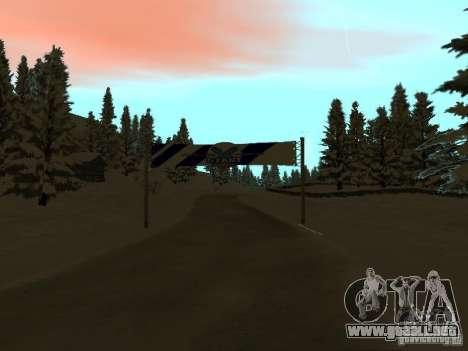Camino de invierno para GTA San Andreas segunda pantalla