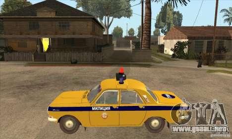 Policía 2401 Volga GAZ para GTA San Andreas left