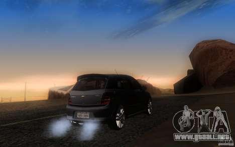 Chevrolet Agile 2012 para GTA San Andreas vista posterior izquierda