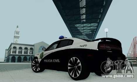 Dodge Charger 2012 Police para GTA San Andreas vista posterior izquierda