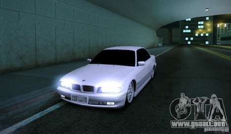 BMW 750i para GTA San Andreas left
