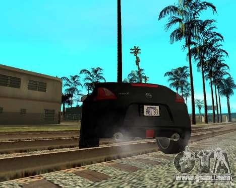 Nissan 370Z v2.0 para GTA San Andreas vista posterior izquierda