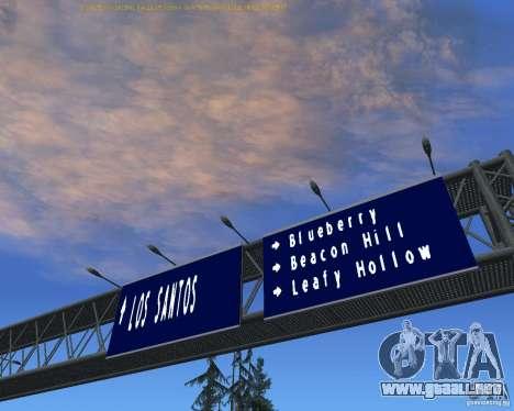 Carretera signos v1.1 para GTA San Andreas