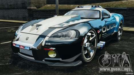 Dodge Viper SRT-10 ACR ELITE POLICE para GTA 4