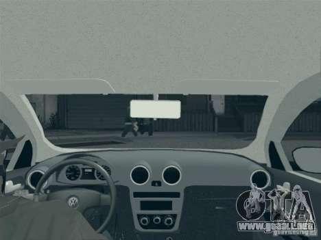 Volkswagen Saveiro 1.6 2009 para la vista superior GTA San Andreas