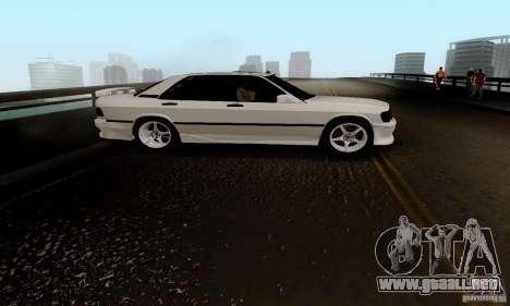 Mercedes-Benz 190E para visión interna GTA San Andreas