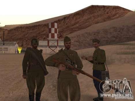 Piel de soldado soviético de II Guerra Mundial para GTA San Andreas