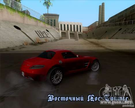 Mercedes-Benz SLS AMG V12 TT Black Revel para GTA San Andreas interior