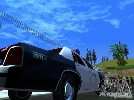 Ford Crown Victoria LTD 1992 LSPD para visión interna GTA San Andreas