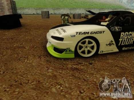 Nissan S14A Team Ghost para GTA San Andreas vista posterior izquierda