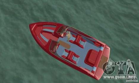 Speedboat para GTA San Andreas vista posterior izquierda