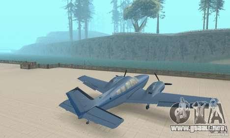 Beechcraft Baron 58 T para GTA San Andreas left