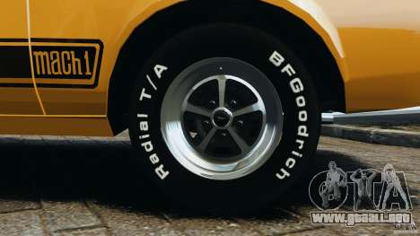 Ford Mustang Mach 1 1973 para GTA 4 vista superior