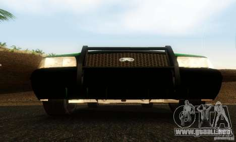 Ford Crown Victoria Vermont Police para GTA San Andreas vista hacia atrás