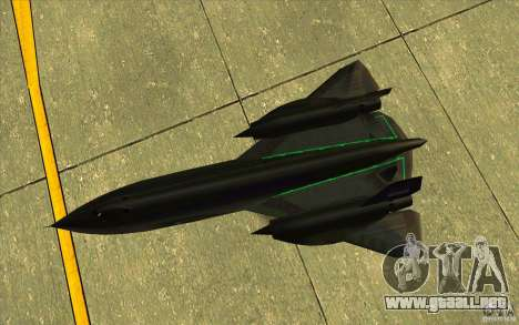 SR-71A BLACKBIRD BETA para vista lateral GTA San Andreas
