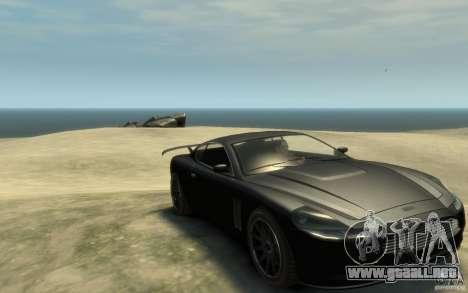 Aston Martin DB9 Super GTR beta para GTA 4 vista hacia atrás