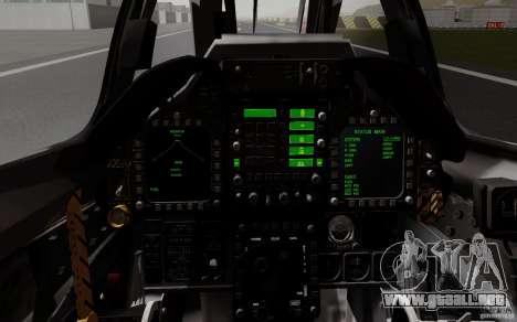 McDonnell Douglas A-4AR Fightinghawk para GTA San Andreas vista hacia atrás
