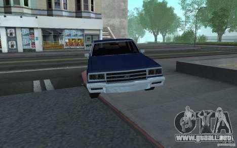 1983 Chevrolet Impala para GTA San Andreas vista posterior izquierda