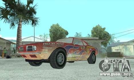 Speedevil de FlatOut para GTA San Andreas vista posterior izquierda
