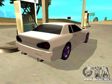 New Elegy v.1 para GTA San Andreas vista posterior izquierda