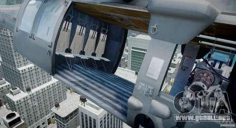 HH-60G Pavehawk para GTA 4 vista hacia atrás