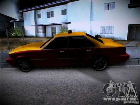Sentinel Taxi para GTA San Andreas vista hacia atrás