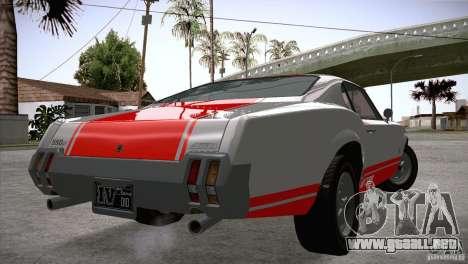 Sabre GT From GTA IV para GTA San Andreas vista posterior izquierda