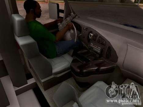 Ford E-350 Ambulance v2.0 para visión interna GTA San Andreas